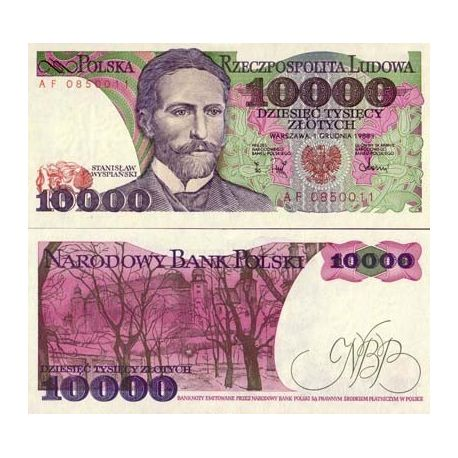 Billets banque Pologne Pk N° 151 - 10000 Zlotych