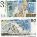 Banconote di collezione Polonia Pk N° 178 - 50 Zlotych