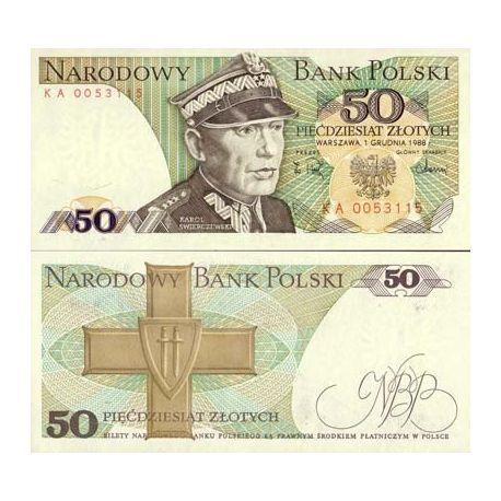 Billets de collection Billet de banque Pologne Pk N° 142 - 50 Zlotych Billets de Pologne 1,00 €