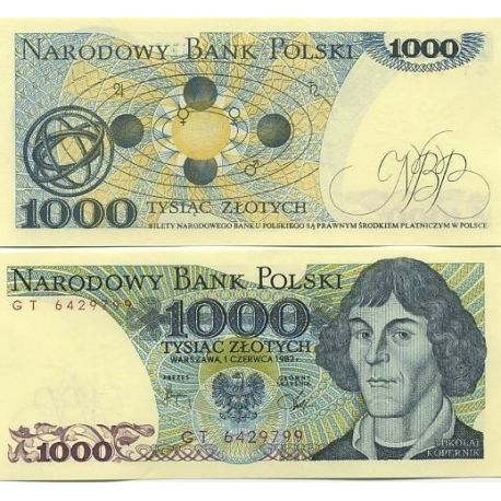 Billet de collection Pologne Pk N° 146 - 1000 Zlotych