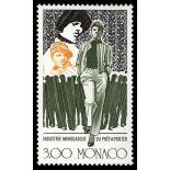 Francobollo di Monaco N° 1661 nove senza cerniera