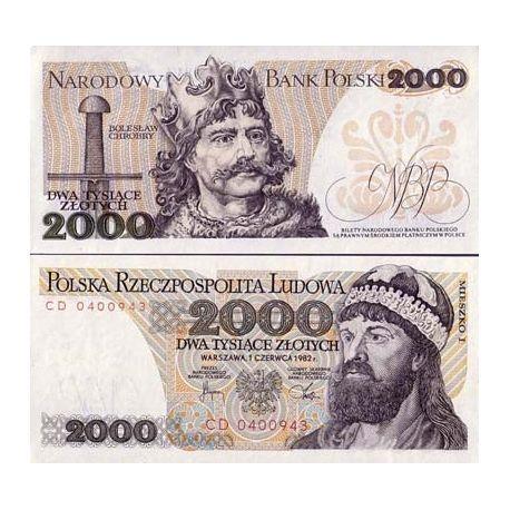 Billets de collection Billet de banque Pologne Pk N° 147 - 2000 Zlotych Billets de Pologne 15,00 €