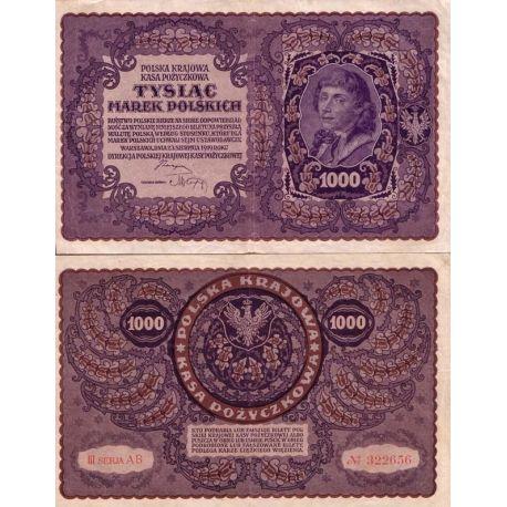 Billets de collection Billets banque Pologne Pk N° 29 - 1000 Marek Billets de Pologne 2,50 €