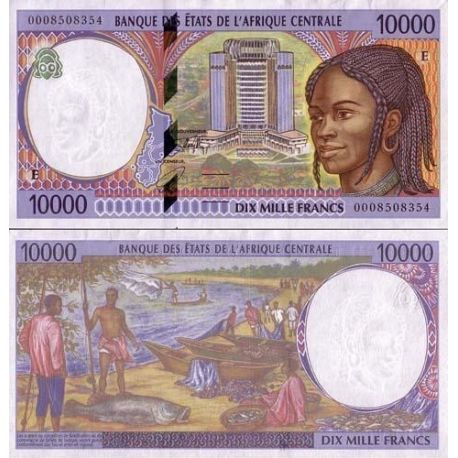 Central Africa Cameroon - Pk # 205 - 10000 Franks ticket