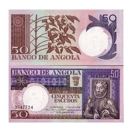 Billet de collection Angola Pk N° 105 - 50 Escudos