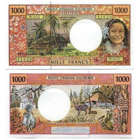 Billets de collection Polynesie - Pk N° 2 - Collection billet de 1000 Francs Billets de Polynesie 33,00 €