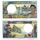 Colección Billetes Polinesia Pick número 1 - 500 FRANC