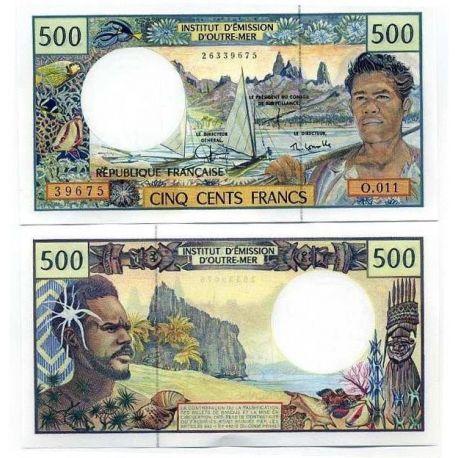 Polynesie - Pk N° 1 - Billet de 500 Francs