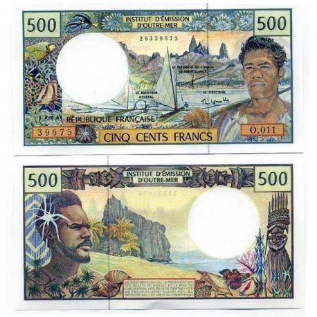Billets de collection Polynesie - Pk N° 1 - Collection billet de 500 Francs Billets de Polynesie 24,00 €