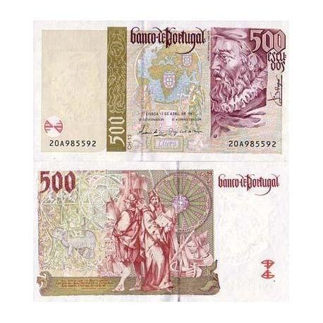 Portugal - Pk N° 187 - Billet de 500 Escudos