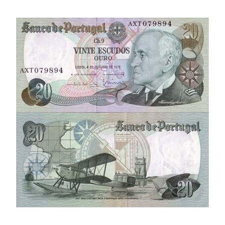 Portugal - Pk N° 176 - Billet de 20 Escudos