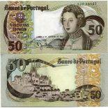 SammlungsBanknote PORTUGAL Pk Nr. 174 - 50 Escudos