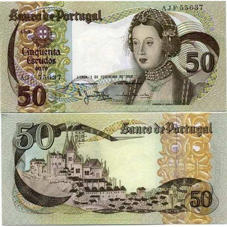 PORTUGAL - Pk # 174 - 50 Note Escudos