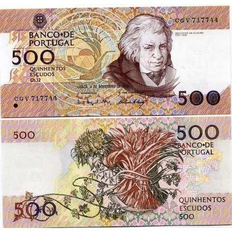 PORTUGAL - Pk N° 180 - Billet de 500 ECCUDOS