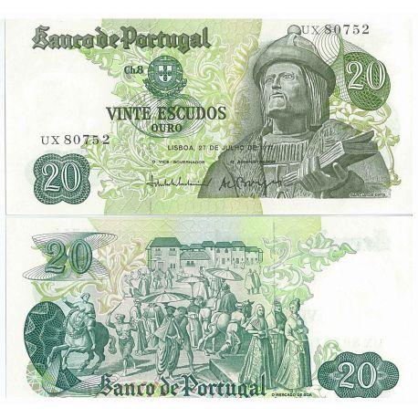 Portugal - Pk N° 173 - Billet de 20 Escudos