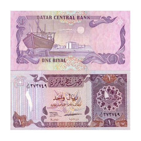 Billets de collection Billet de banque Qatar Pk N° 14B - 1 Riyal Billets du Qatar 3,00 €