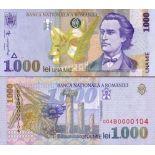 Banknoten Sammlung Rumänien Pk Nr. 106 - 1000 Lei