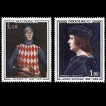 Timbre de collection de Monaco N° 734/35 neuf sans charnière