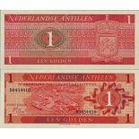 Precioso de billetes Antillas Holandesas Pick número 20 - 1 Gulden 1970
