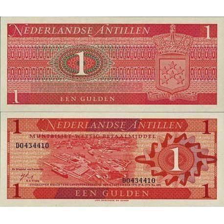Netherlands Antilles - Pk # 20 - 1 ticket Gulden
