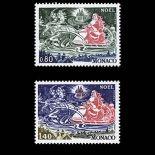 Timbre de collection de Monaco N° 1113/14 neuf sans charnière