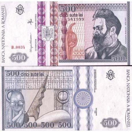 Billets de collection Billets de banque Roumanie Pk N° 101 - 500 Lei Billets de Roumanie 4,00 €