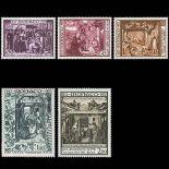 Francobollo di Monaco N° 934/38 nove senza cerniera