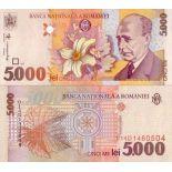 Billets banque Roumanie Pk N° 107 - 5000 Lei
