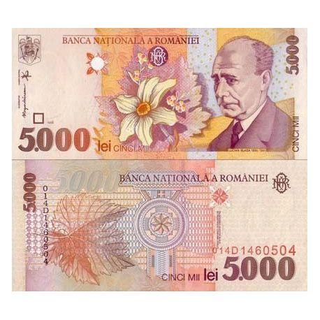 Billets de collection Billets banque Roumanie Pk N° 107 - 5000 Lei Billets de Roumanie 4,00 €