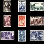Stamp collection of Monaco N° 265/73 nine without hinge