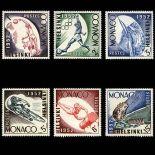 Francobollo di Monaco N° 386/91 nove senza cerniera