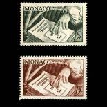 Francobollo di Monaco N° 392/93 nove senza cerniera