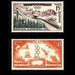 Timbre de collection de Monaco N° 442/443 neuf sans charnière