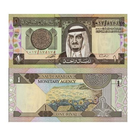 Billets de collection Billet de banque Arabie Saoudite Pk N° 21 - 1 Ryal Billets d'Arabie Saoudite 4,00 €