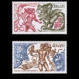 Timbre de collection de Monaco N° 1494/95 neuf sans charnière