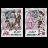 Francobollo di Monaco N° 1686/87 nove senza cerniera