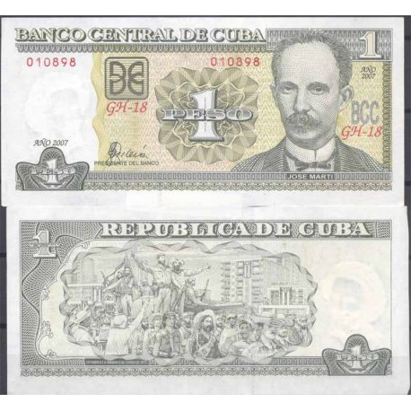 Billets de collection Billets collection Cuba Pk N° 128 - 1 Peso Billets de Cuba 1,50 €