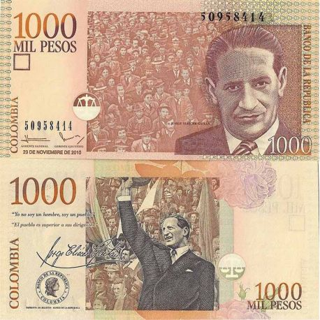 Billets de collection Billet de banque Colombie Pk N° 456 - 1000 Pesos Billets de Colombie 3,00 €