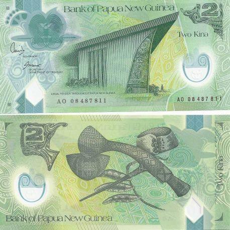 Papouasie Nlle Guinee - Pk N° 28 - Billet de banque de 2 Kina