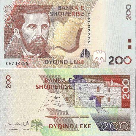 Albanie - Pk N° 71 - Billet de 200 Leke