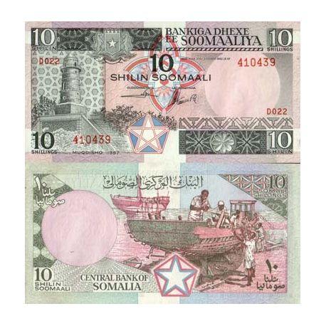 Somalia - Pk No. 32 - 10 Shillings banknote