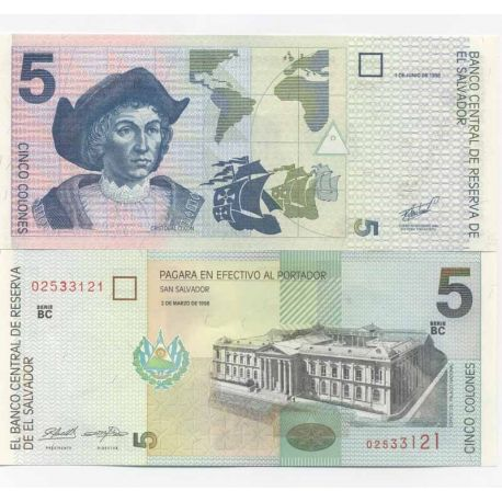 Salvador - Pk N° 147 - Billet de 5 Colones