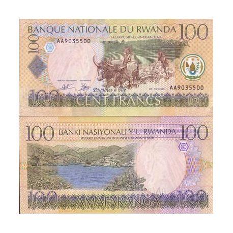 Rwanda - Pk: # 29 - 100 note Franks