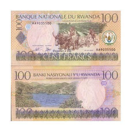 Billets collection Rwanda Pk N° 29 - 100 Francs
