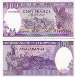 Beautiful banknote Rwanda Pick number 19 - 100 FRANC