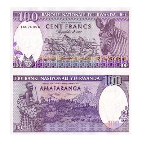 Billet de collection Rwanda Pk N° 19 - 100 Francs