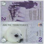Los billetes de banco Arctique / Antarctique Pick número 9999 - 2 Dollar
