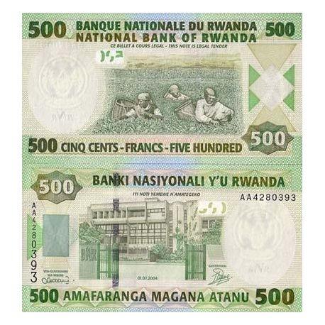 Billet de banque Rwanda Pk N° 30 - 500 Francs