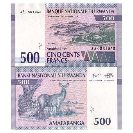 Rwanda - Pk N° 23 - Billet de 500 Francs