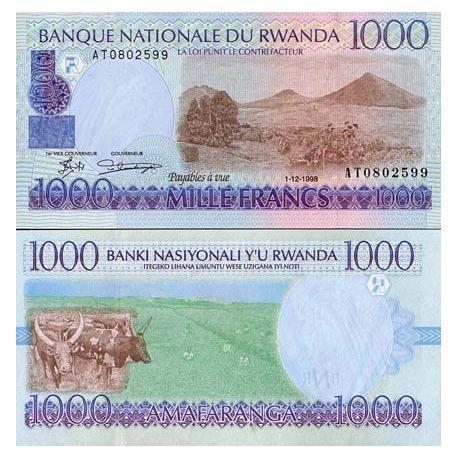 Billets de banque Rwanda Pk N° 27 - 1000 Francs